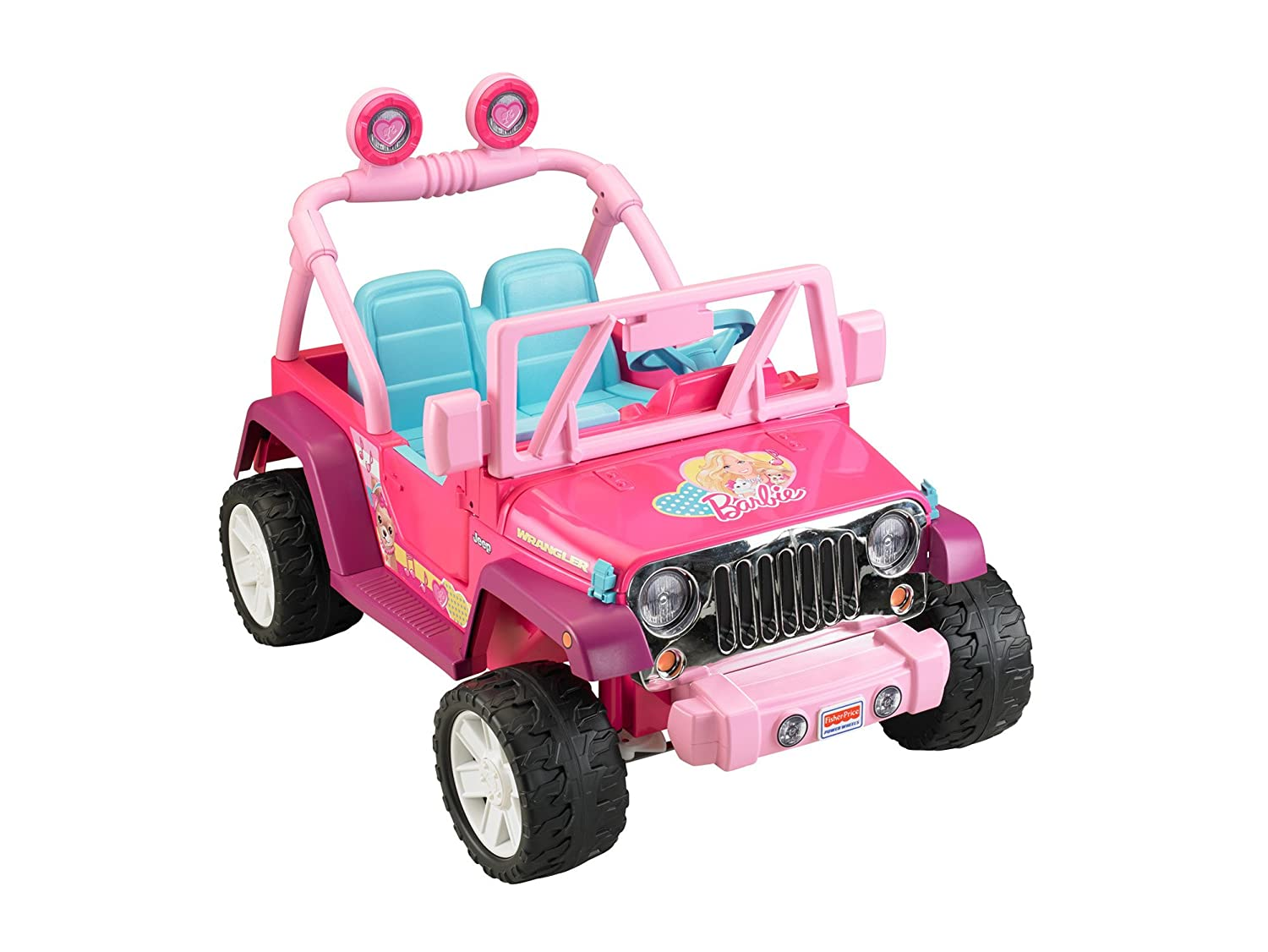 Toy Cars For Girls : Pink barbie jeep wrangler girls ride on outdoor toy
