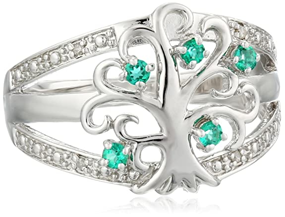Sterling-Silver-Tree-of-Life-Diamond-Ring