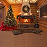 10x10ft Christmas Tree Background for Photography Wood House Decoration Backdrops Wood Floor Photo Studio (Color: 4703, Tamaño: 10x10ft)