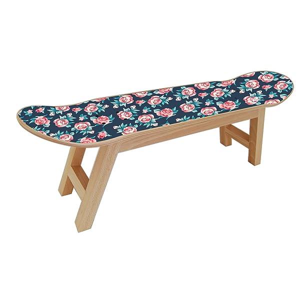 Skateboard sgabello per una decorazione della camera da letto, regalo originale, stampa digitale HD e legno naturale