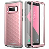 Samsung Galaxy Note 8 Case, Clayco [Hera Series] Full-body Rugged Case with Built-in 3D Curved Screen Protector for Samsung Galaxy Note 8 (2017 Release) (RoseGold) (Color: RoseGold)