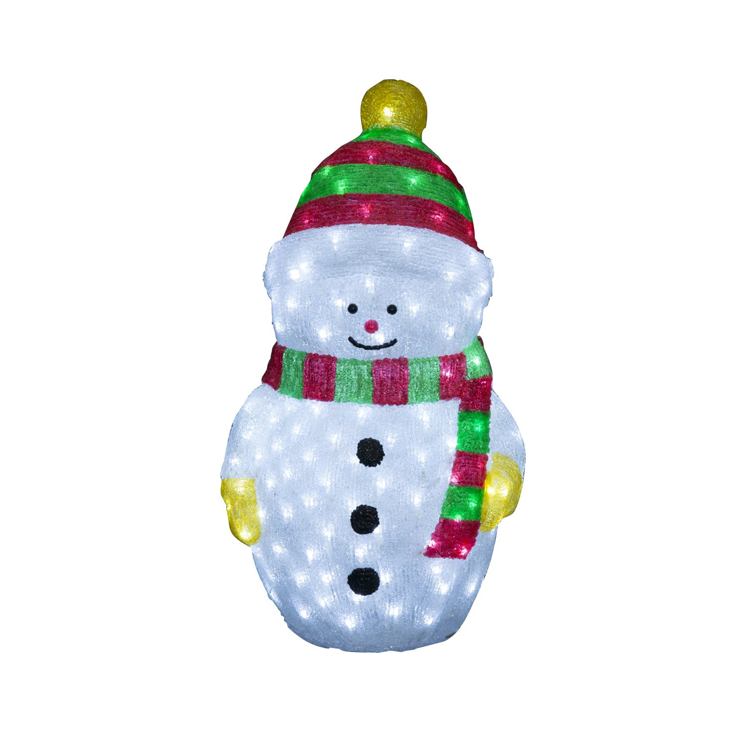 "HomCom 24"" LED Lit Holiday Christmas Decoration Light - Green and Red Snowman at Sears.com"