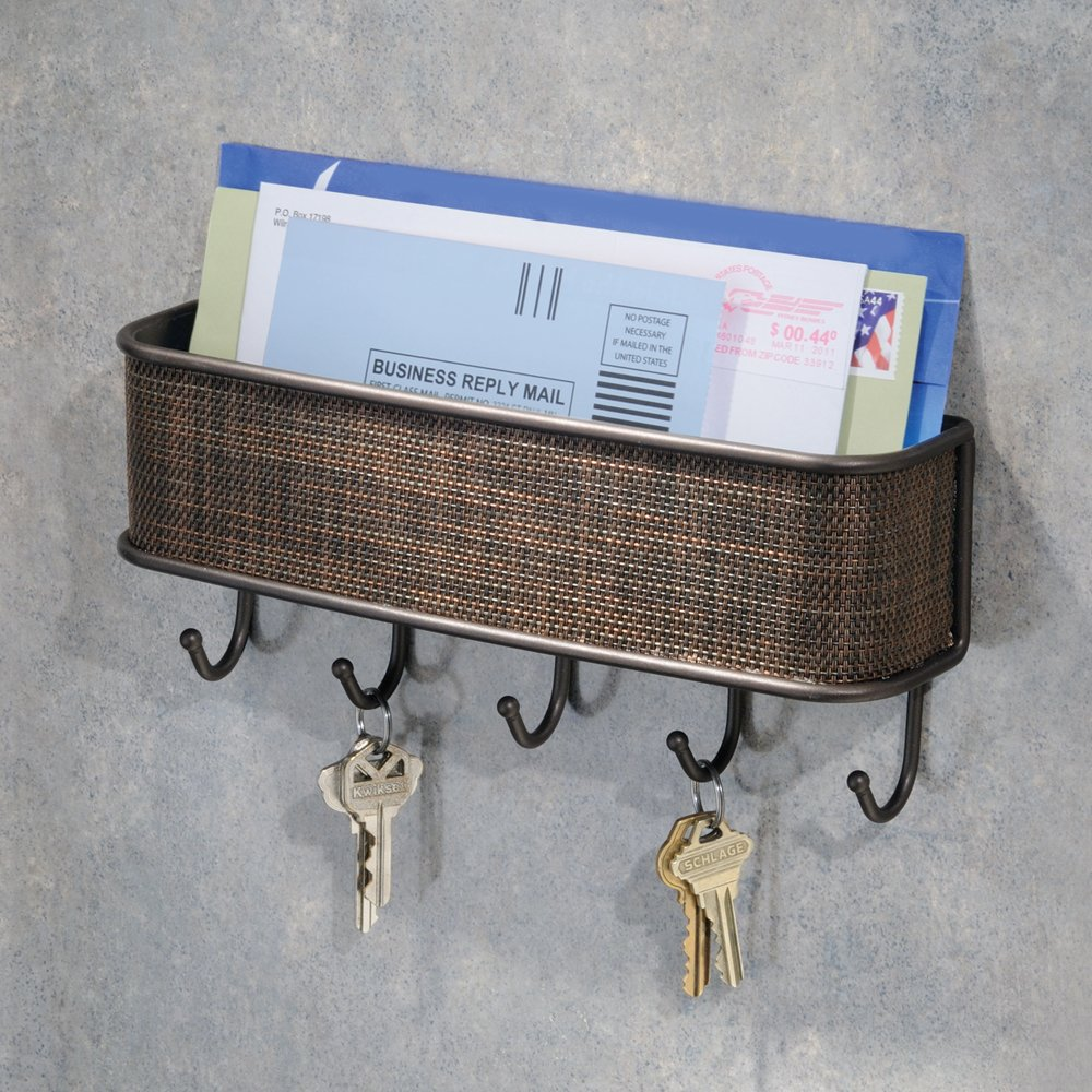Key And Letter Rack Holder Wall Hooks Hook Ring Storage Organizer Bronze Chains Ebay