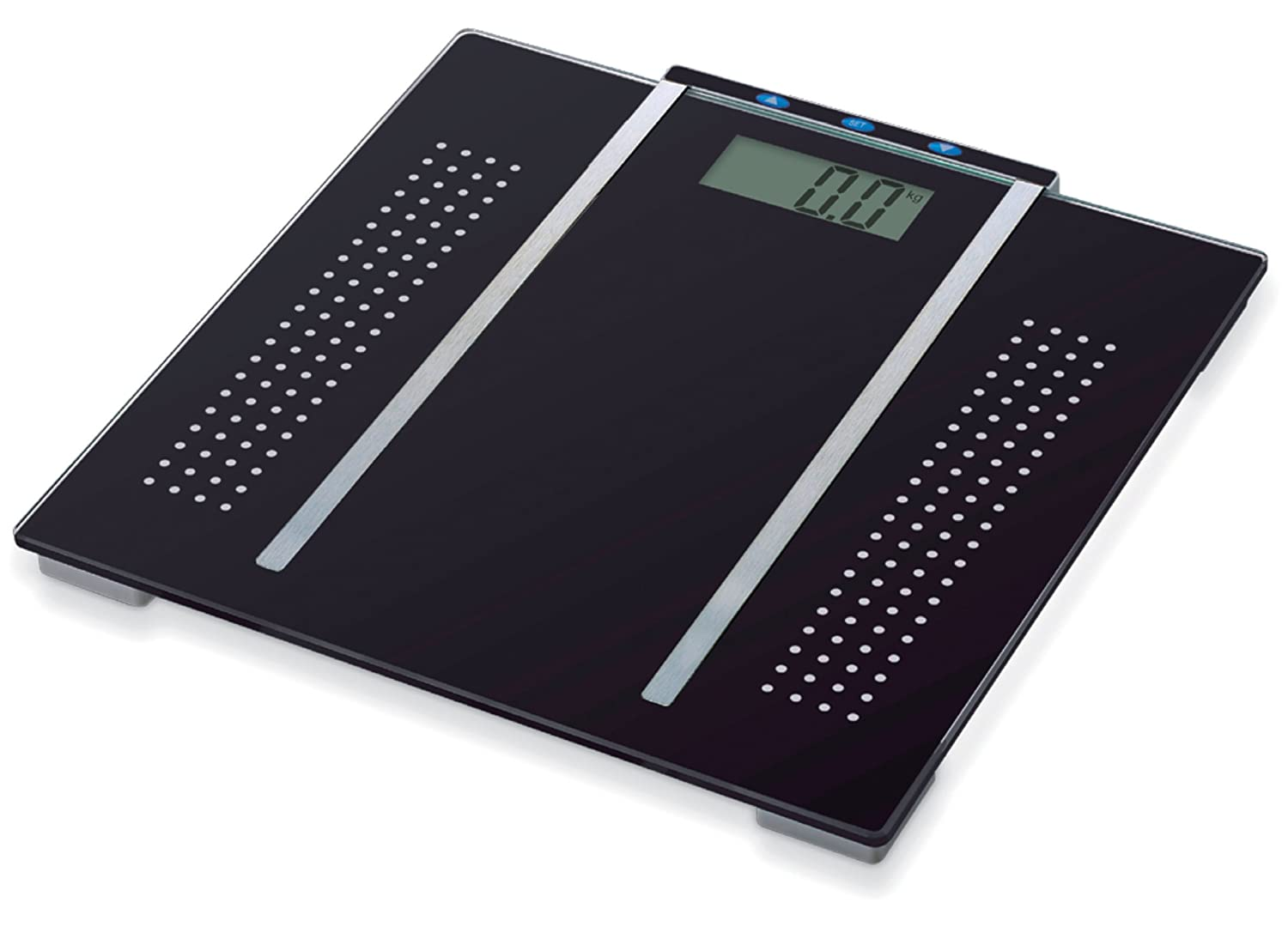Sentik 28-0012 BMI Bathroom Scale have tempered glass platform that firmly  to weight up to 150 kg. High precision strain gauge sensors system for  accurate ...