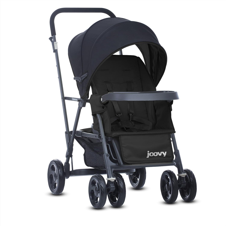 JOOVY Caboose Graphite Stand On Tandem Stroller, Black