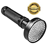 KOBRA UV Black Light Flashlight 100 LED #1 Best UV Light and Blacklight For Home & Hotel Inspection, Pet Urine & Stains - Ultra Intensity 18W 385-395n