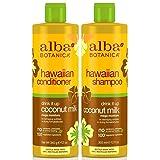 Alba Botanica Drink It Up Coconut Milk, Hawaiian Duo Set Shampoo and Conditioner, 12 Ounce Bottle Each (Tamaño: DUO SET, Conditioner and Shampoo)