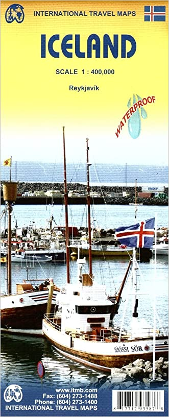 Iceland Travel Reference Map 1:425,000- 2015 written by ITMB Publishing LTD