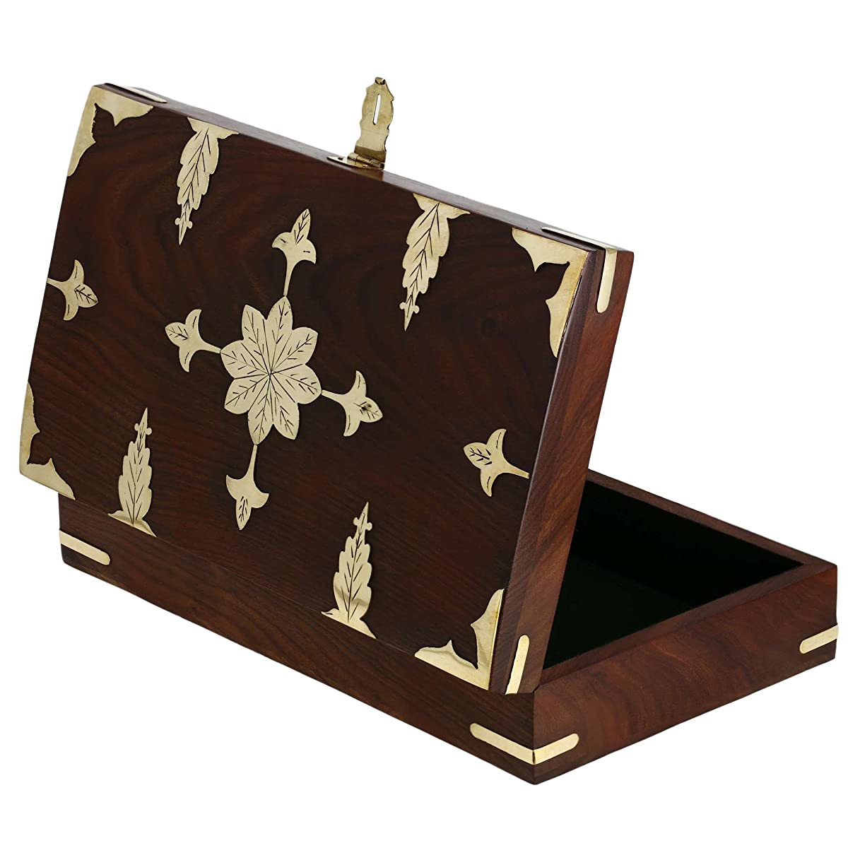 Antique Style Indian Handmade Wooden Jewelry Box For Women 12 X 7 X 2.5 Inch