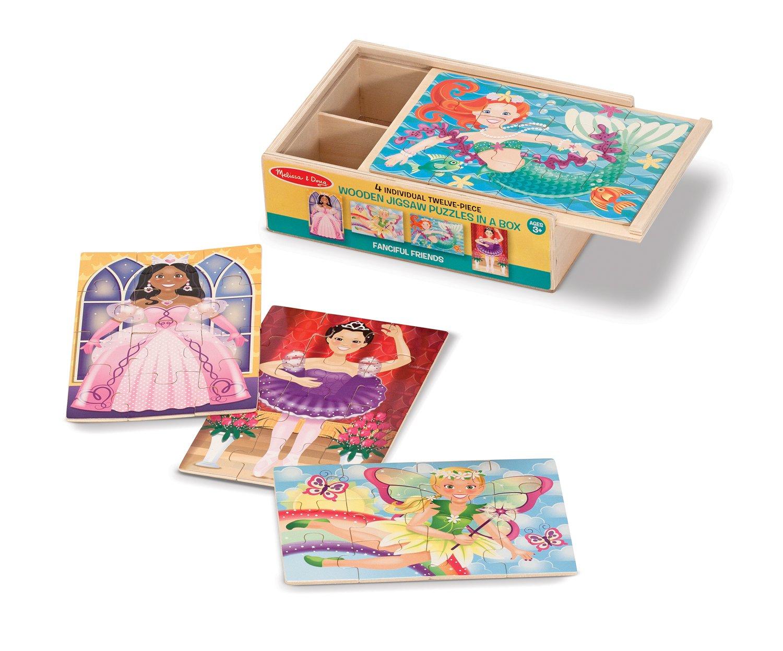 Princess, Mermaid, Ballerina, and Fairy Puzzles in a Box Set
