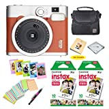 Fujifilm instax mini 90 Instant Film Camera + Fujifilm instax Film 20 Sheets + Extra Accessories Kit (Brown) (Color: Brown)