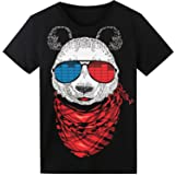 LED T Shirt Sound Activated Glow Shirts Light up Equalizer Clothes for Party (Color: Panda, Tamaño: Medium)