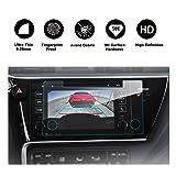 RUIYA 2017 Toyota Corolla In-Dash Screen Protector, HD Clear Tempered Glass Car Navigation Screen Protective Film