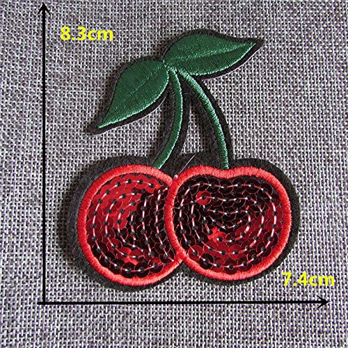 [FairyTeller 2016 Year All Kinds Style Fruit Modelling Hot Melt Adhesive Applique Embroidery Patch Diy Clothing Accessory Patch 1Pcs] (National Costume Of All Countries)