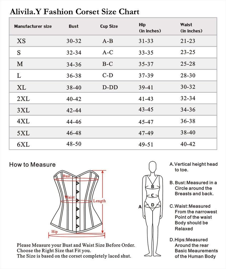 Alivila.Y Fashion Womens Sexy Vintage Underbust Waist Training Corset 6