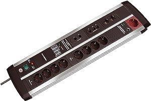 Brennenstuhl PremiumProtectLine AutomatikSteckdosenleiste (9fach, 3m, 120.000 A), schwarz/grau  BaumarktÜberprüfung und weitere Informationen