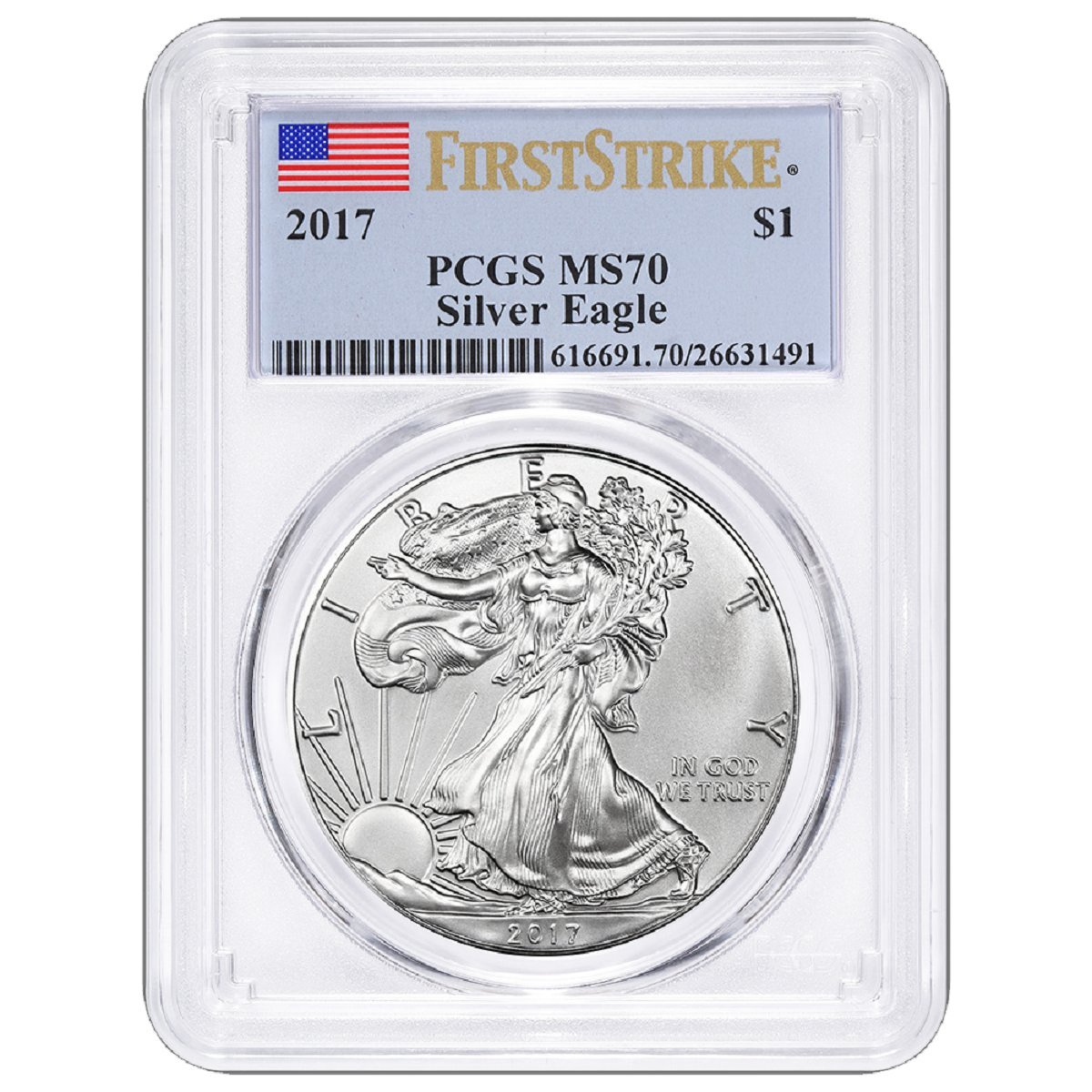Buy Silver Eagle First Strike Now!