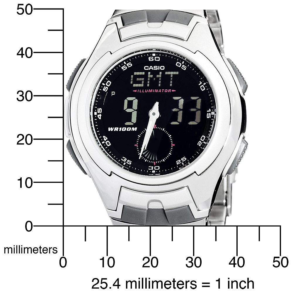 Casio Men's AQ160WD-1BV Ana-Digi Electro-Luminescent Sport Watch$29.00