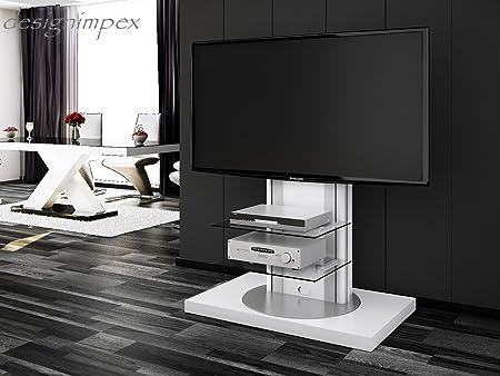 Fernsehtisch H-777 Weiß Hochglanz drehbar TV Möbel TV Rack LCD inkl. TV-Halterung