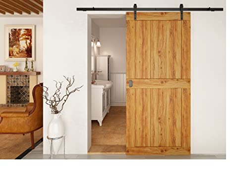 Coburn Flat Track 100 trackset for one door up to 1m wide, 100kg. Straight hangers, black finish