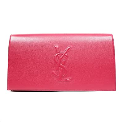 Yves Saint Laurent Ysl Belle Du Jour Large Hot Pink Clutch Bag ...