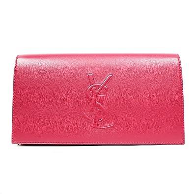 Yves Saint Laurent Ysl Belle Du Jour Large Hot Pink Clutch Bag ...