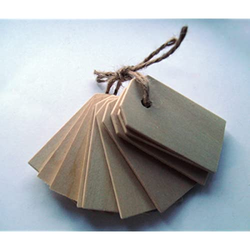 Wood Gift Tags / Blank Wooden Tags for Wine Decor Weddings (Pkg of 50)