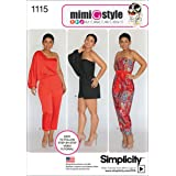 Simplicity 1115 Women's Jumpsuit Romper Sewing Pattern by Mimi G, Sizes 6-14 (Color: None, Tamaño: H5 (6-8-10-12-14))