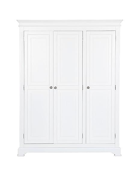 K.Interiors Collection 150 x 54 x 190 cm Brighton 3 Door Wardrobe, White