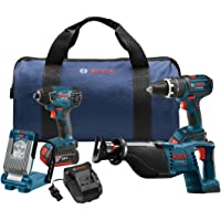 Bosch 18V 2 Ah Cordless Lithium-Ion 4-Tool Combo Kit