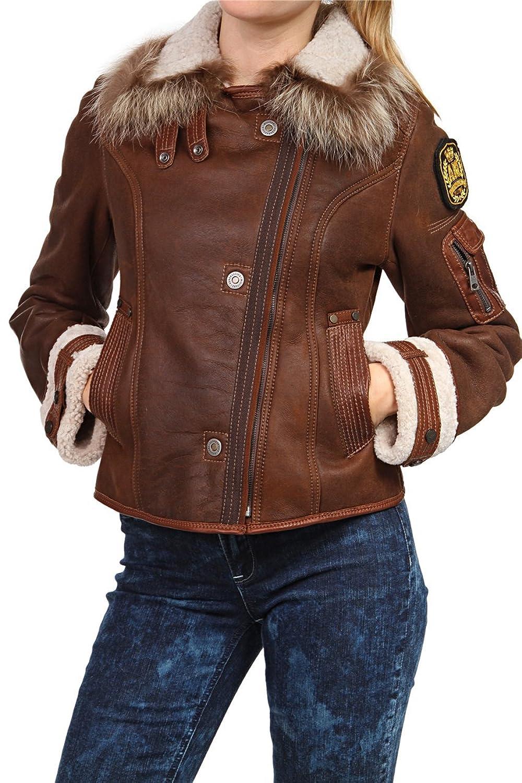 Aeronautica Militare Damen Jacke Lederjacke , Farbe: Dunkelbraun bestellen