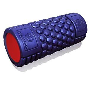 Muscle Foam Roller ✠ Revolutionary Textured Grid Exercises & Massages Muscles - Super High Density EVA Provides Deep Tissue Massage for Back, IT Band, Legs & Arms - Perfect for Pilates, CrossFit, Yoga, Running, Physical Therapy & Myofascial Release