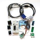RT809F Programmer +7 Adapters+SOP16 SOP20 IC Clip Motherboard Reader LCD BIOS ISP/ USB/ VGA w/ Engilsh Softerware (Tamaño: Small)