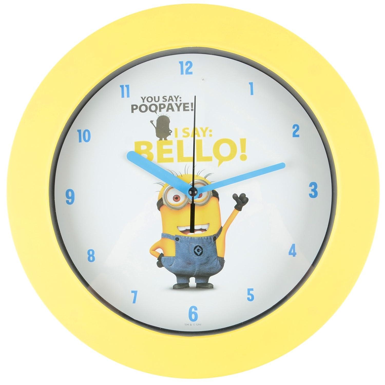 Minions Kinder Uhr Wanduhr für Kinderzimmer Dekoration Wanddeko Apfel bestellen