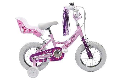 Izzie Vélo pour fille Rose 35,6cm Roue Dolly Stabilisateurs, siège et casque assorti âge 4+