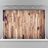 10x6.5ft Photography Backdrops Wood Brown Plank Texture Background Seamless Cotton Cloth Photo Booth Backdrop Photographic Studio Props (Color: Brown Wood, Tamaño: 10x6.5ft)