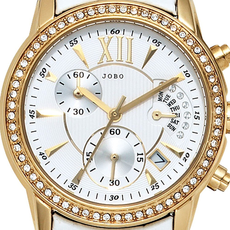 Damen-Armbanduhr Quarz Analog Edelstahl vergoldet Kristall-Elements günstig kaufen