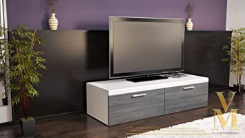 meuble tv bas atlanta atlanta en blanc mat avola. Black Bedroom Furniture Sets. Home Design Ideas