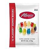 Albanese Candy 12 Flavor Gummi Bears 5 Pound Bag, Assorted Gummi Bears: Cherry, Pink Grapefruit, Watermelon, Strawberry, Orange, Blue Raspberry, Lime, Grape, Green Apple, Mango, Pineapple, Lemon (Color: Multicolored, Tamaño: 5 Pound)