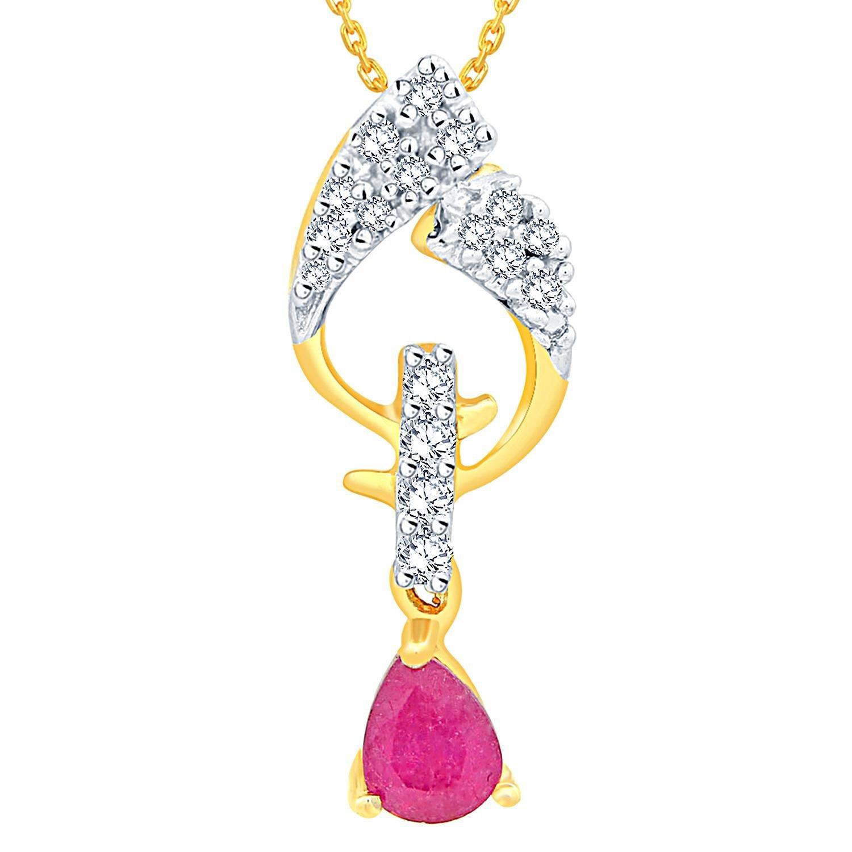 Minimum 40% Off On Diamond Jewelry Sale By Amazon | Gili 18k (750) Yellow Gold and Diamond Pendant @ Rs.10,050