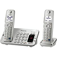 Panasonic DECT 6.0 2 Handset Phone System with Caller ID/Call Waiting (Silver)