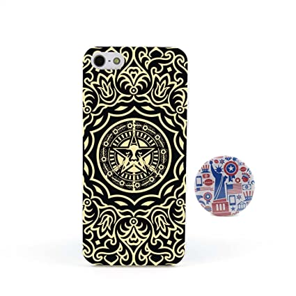 Obey Flower Design Line Obey Flowers Embossed