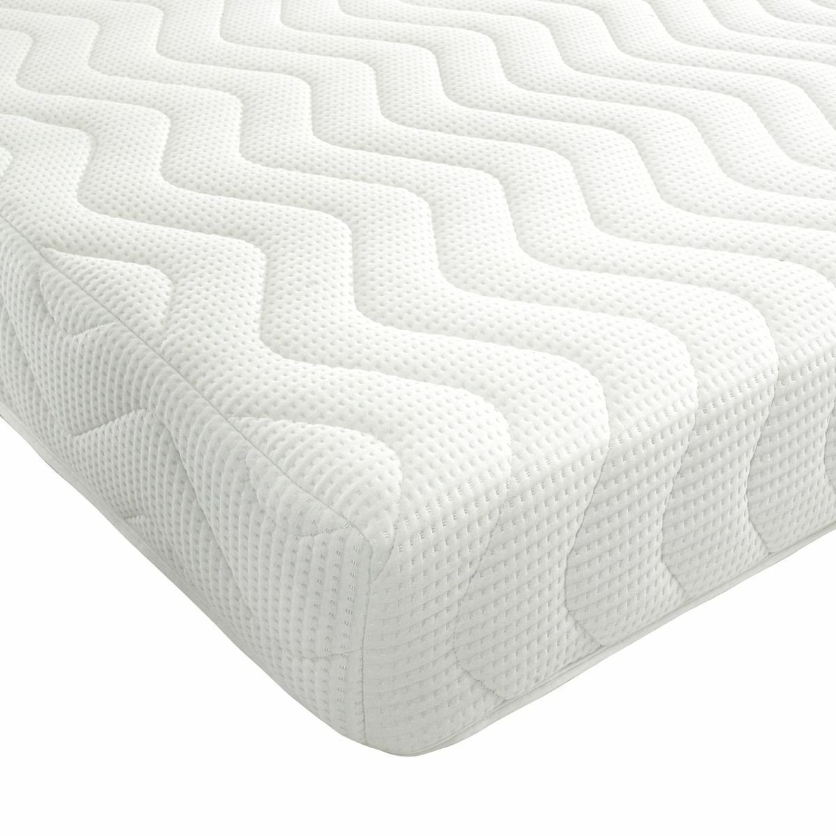 Bedzonline Memory Foam and Reflex 3 Zone Mattress with 2 Fibre Pillows Micro Quilted cool flex Cover, King size , 5ft , 150 x 200 cm       Customer review and more information