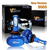Vplus X Series 9005 HB3 LED Headlight Bulbs Clear Arc-Beam Conversion Kit 8,400LM 6500K Seoul Chip All in One Headlamp Detachable Without Built-in Driver/Adjustable Light Pattern LED Replacement(2pcs)