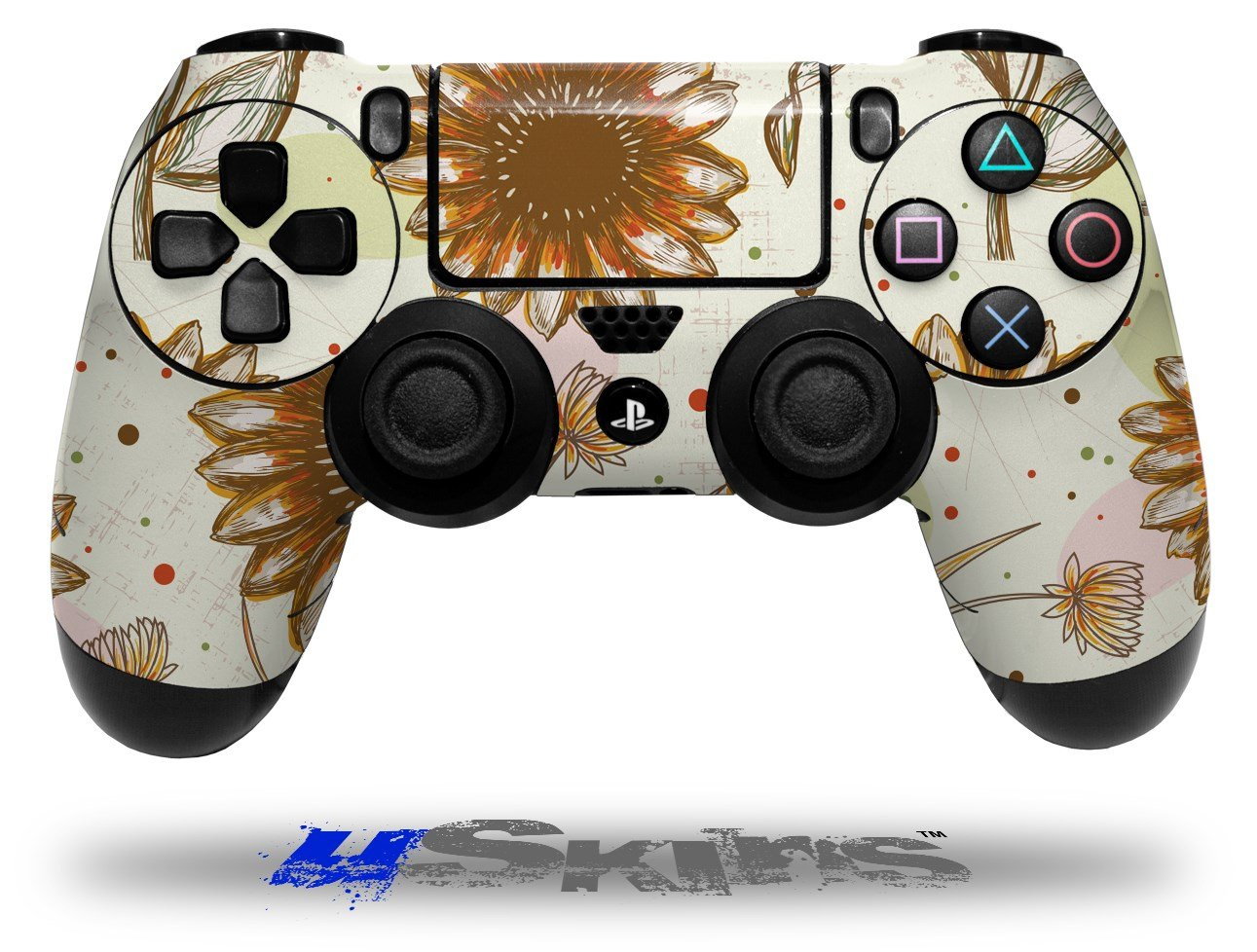 Flowers Pattern 19 - Decal Style Wrap Skin fits Sony PS4 Dualshock 4 Controller - CONTROLLER NOT INCLUDED