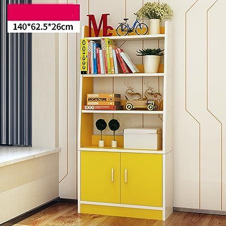 AJZGF Scaffali in stile europeo semplici e moderni librerie per camere da letto mensole semplici vetrine Ripiani ( Colore : Colore del legno )