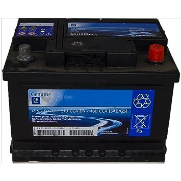 Original Opel Autobatterie 510 Cca 12 V 60 Ah 1201003 Hjnbvhjb