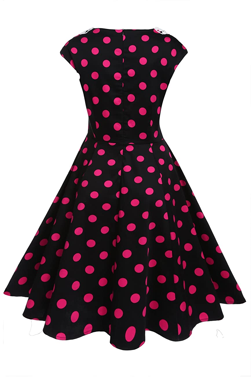 ACEVOG Women's Classy Vintage Audrey Hepburn Style 1940's Rockabilly Evening Dress 1