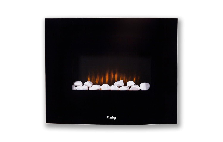 Chimenea eléctrica para pared imitando llamas de fuego