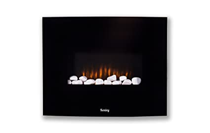 Kenley chimenea electrica de pared efecto llama ardiendo - Chimeneas electricas bajo consumo ...